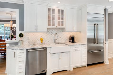 white kitchen cabinets with stainless appliances timeless grey and white kitchen middletown new jersey by 2087