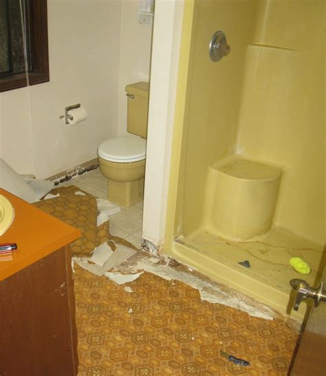 How To Replace Vinyl Flooring In Bathroom by Bathroom Remodel Replace Vinyl Flooring My Handy Family