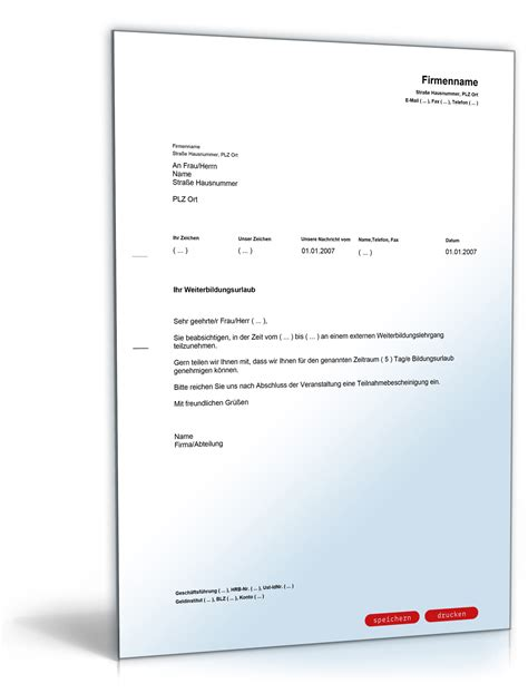 genehmigung von bildungsurlaub durch den arbeitgeber