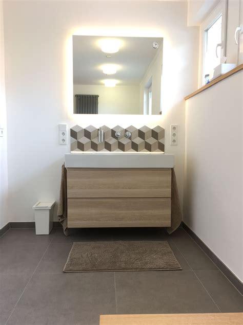 Badezimmer Fliesen Pimpen by Waschbecken Duravit Vero Mit Ikea Unterschrank Fliesen