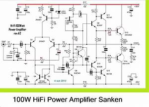 100w Hifi Power Amplifier Circuit With Sanken