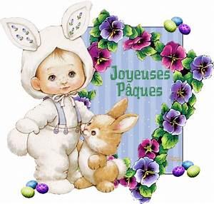 Joyeuses Paques Images : joyeuses p ques gif scintillant petits lapins ~ Voncanada.com Idées de Décoration