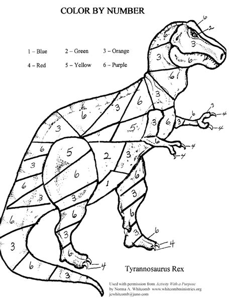 color  number dino kids coloring activity kids answers