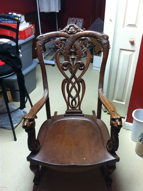 lion head rocking chair  antique furniture collection