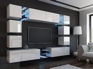 wohnwand designer kaufexpert wohnwand edge weiß hochglanz mediawand medienwand design modern led beleuchtung mdf