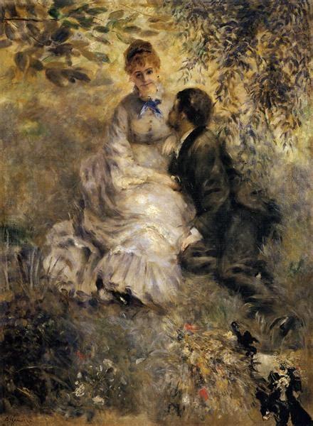 The Lovers C1875 Pierre Auguste Renoir