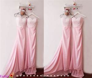 long pink bridesmaid dressmermaid sparkly bridesmaid With pink sparkly wedding dresses