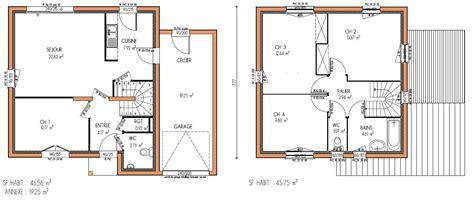 plan maison a etage 3 chambres plan maison a etage 4 chambres 12 gratuit kirafes