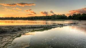 River Rapids Sunset stock image. Image of ohio, river ...