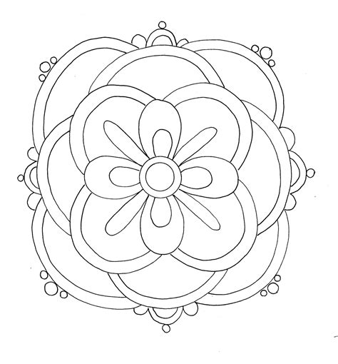 free printable rangoli coloring pages for