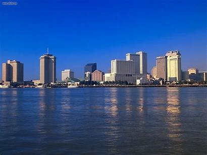 Orleans Louisiana Skyline Mississippi Reflections Buildings Wallpapers