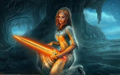 Fantasy Female Warrior Knight