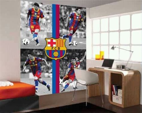 decorate  wall  fc barcelona   kids
