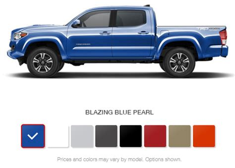 Toyota Colors by What Are The 2016 Toyota Tacoma Color Options