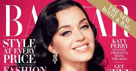 Katy Perry For Harpers Bazaar Us October 2014