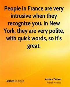 Intrusive Quote... New France Quotes