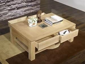Table Basse Hauteur 60 Cm : table basse en ch ne massif ligne contemporaine finition ~ Dailycaller-alerts.com Idées de Décoration