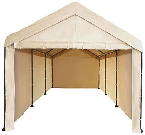 costco  carport frame cover fits  dark brown