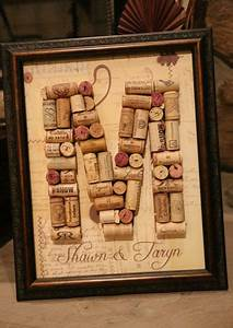 what a unique wedding gift wine cork letter with custom With wine cork crafts letters