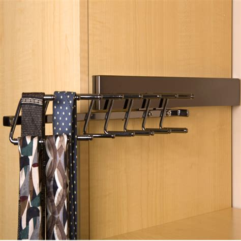 deluxe sliding tie rack black pearl in tie and belt racks