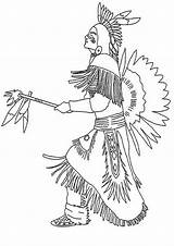 Coloring Indian Pages Native American Coloringpages1001 Americans sketch template