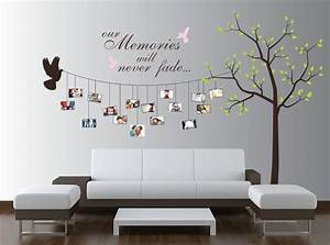 nice 170 family photo wall gallery ideas decoration With family tree decals for walls ideas