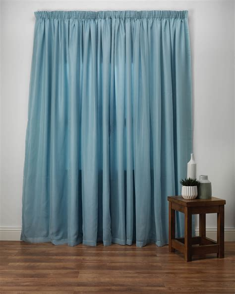 Voile Curtains by Wisteria Duck Egg Lined Voile Curtains From Net Curtains
