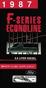 oem owners manual ford truck  serieseconoline