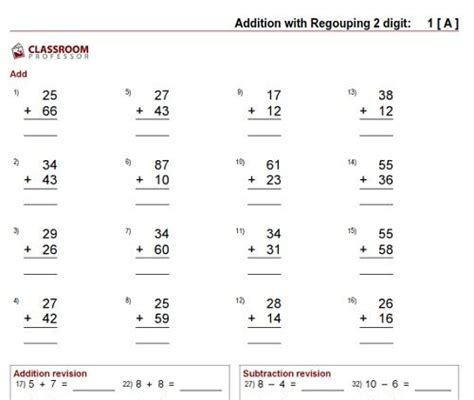 Adding Two Digit Numbers Worksheets  1000 Images About Math Unit 8 On Pinterest Place Values