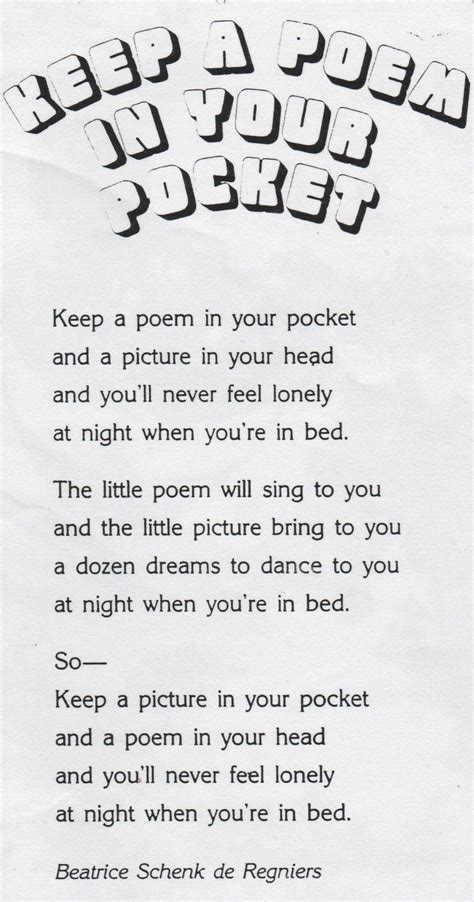 elementary school enrichment activities keep a poem in