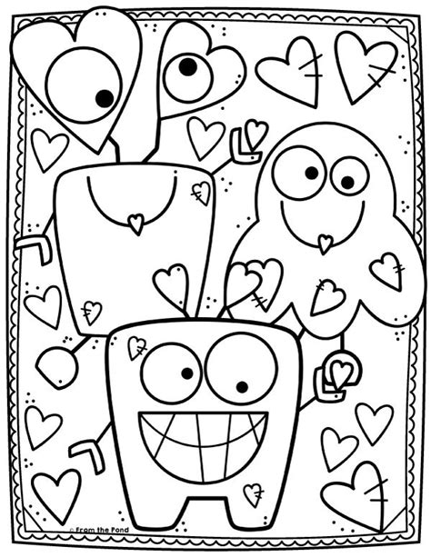 Coloring Club Library From the Pond Monster coloring