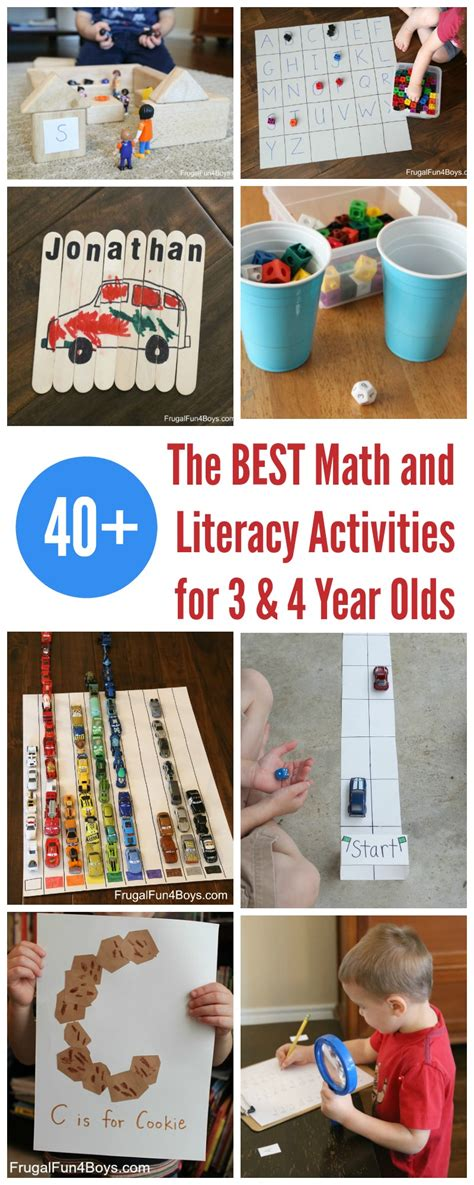 the best math and literacy learning activities for 614 | Preschool Learning Pin