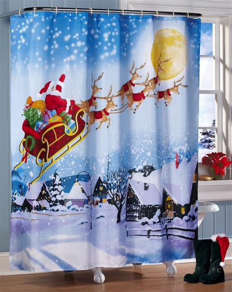 incredible christmas shower curtains