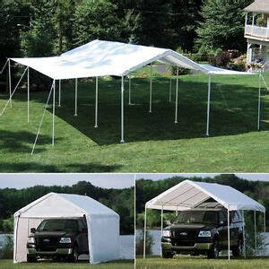xx shelterlogic  leg canopy  enclosure extension kit carport  ebay