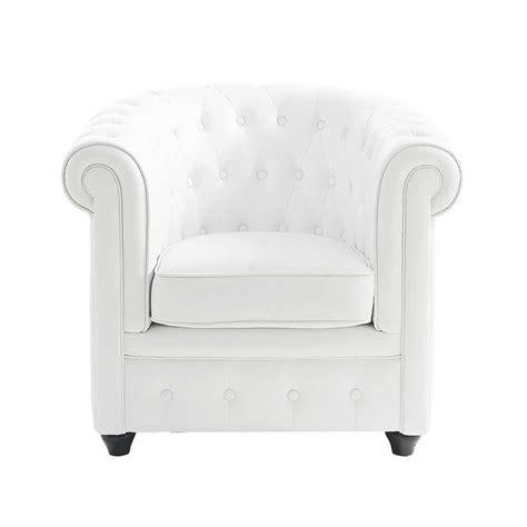fauteuil cuir bureau fauteuil capitonné blanc chesterfield maisons du monde