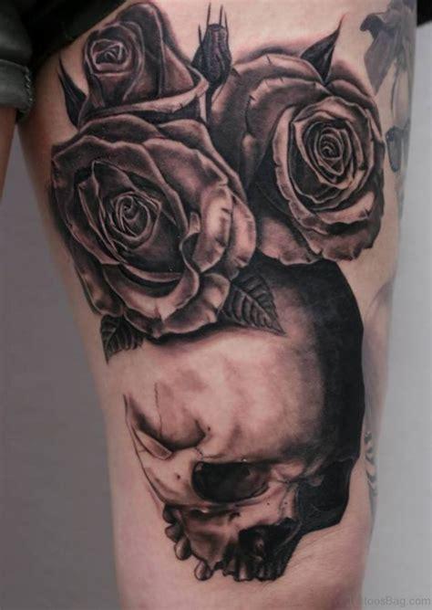 skull tattoos  thigh
