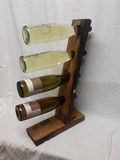 le aus alten holzbalken weinflaschenhalter aus alten wein fassdauben f 252 r 4 flaschen wundersch 246 nes geschliffenes und