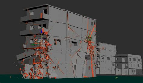 edifice after effects templates 3ds max building demolition using thinking particles
