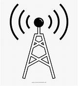 Radio Tower Coloring Torres Clipart Dibujar Clipartkey sketch template