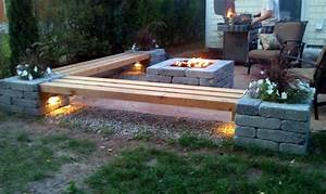 Hull Patio, Pergola, Propane fire pit, custom benches