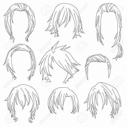 Drawing Hairstyles Female Woman Styling Isolated Getdrawings