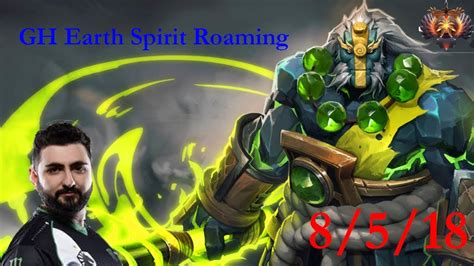 gh earth spirit roaming a technical advantage over everybody dota 2 7 20 pro gameplay