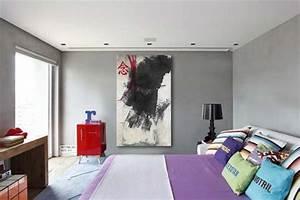 Toile Deco Salon : toile abstraite encre de chine izoa ~ Teatrodelosmanantiales.com Idées de Décoration