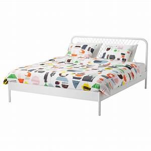 Lit Ikea 140x200 : nesttun cadre de lit blanc 140x200 cm ikea ~ Teatrodelosmanantiales.com Idées de Décoration