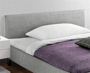 Bett Mit Kopfteil Stoff : preiswertes graues polsterbett in 140x200 cm gravelines ~ Markanthonyermac.com Haus und Dekorationen