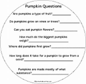 Pumpkin Shape Book: Pumpkin Questions - EnchantedLearning.com