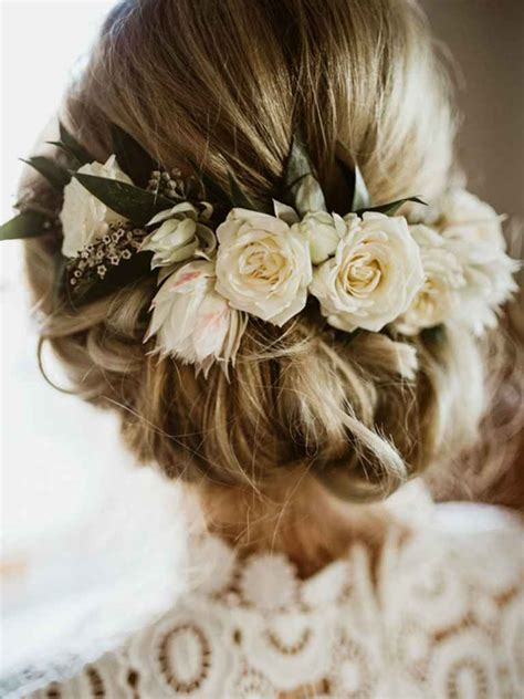 Flower Updo Hairstyles by 17 Stunning Wedding Hairstyles You Ll