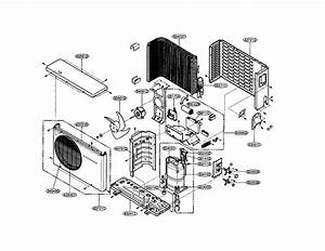 Outdoor Unit Diagram  U0026 Parts List For Model Hmc024kd1 Icp