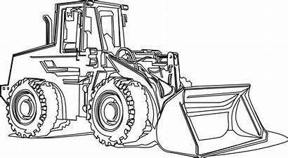 Coloring Pages Equipment Machines Mighty Farm Excavator