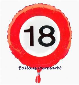Folie Zum Bekleben Von Schränken : geburtstagsgeschenk luftballon mit helium im karton verkehrsschild zahl 18 18 geburtstag lu ~ Bigdaddyawards.com Haus und Dekorationen